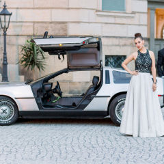Delorean mit Model