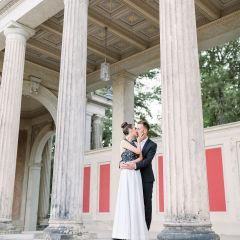 Säulen am Lingnerschloss